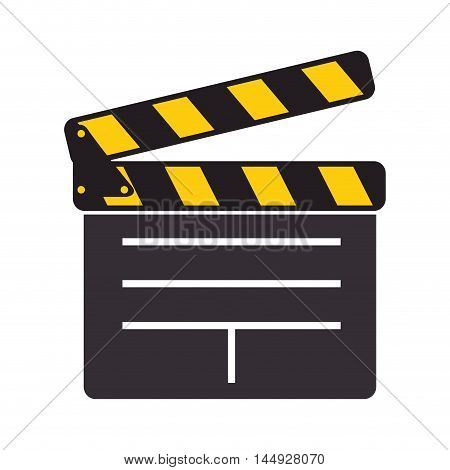 clapboard clapper movie film action object scene equipment vector illustration