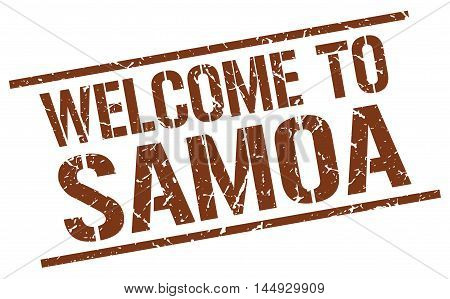 welcome to Samoa. stamp. grunge square sign