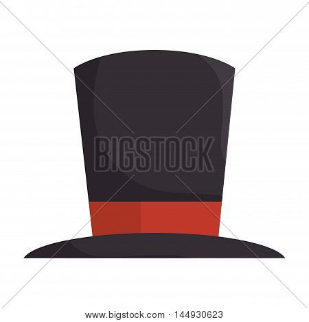 hat clothing tophat magic accessory vintage vector illustration