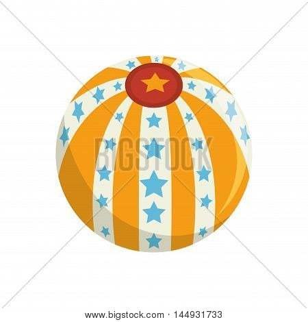 circus ball colorful stars sphere carnival festival vector illustration