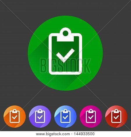 Clipboard checklisticon flat web sign symbol logo label set