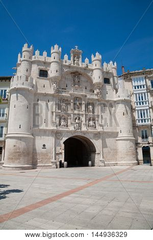 St Mary Arch Door In Burgos City