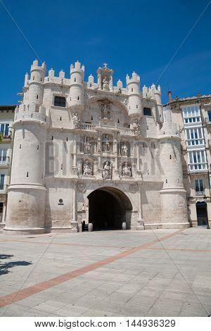 St Mary Arch Door In Burgos City