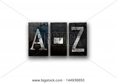 A-z Concept Isolated Letterpress Type