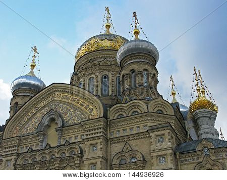 Church of the assumption (dormition church) in Saint Petersburg. Russia.