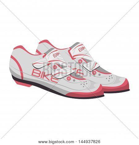 bike sport shoes cyclist wear equipment vector illustration