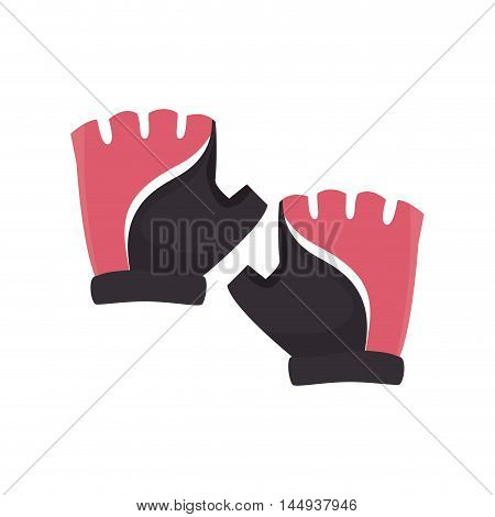 gloves hands cyclist wear protection equipment vector illustration