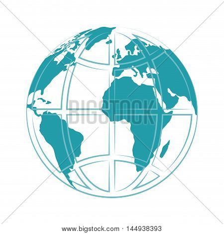 planet earth global globe countries continent ocean geography vector illustration