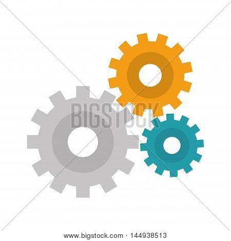 gears cogwheel power transmission mechanism equipment vector illustration