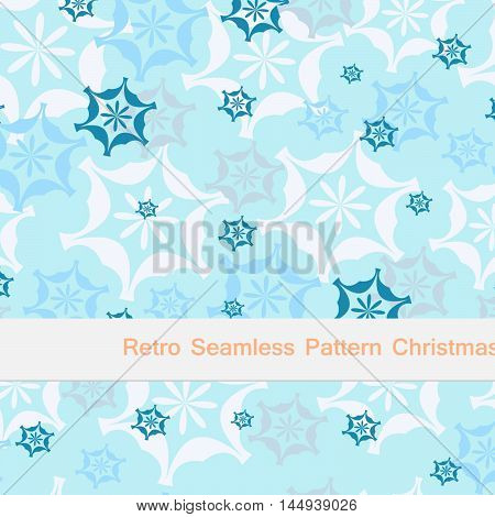 Vector seamless pattern christmas and new year illustration