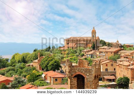 Montalcino beautiful medieval town in Tuscany Italy