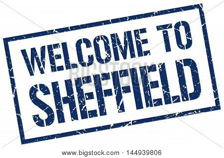 welcome to Sheffield. stamp. grunge square sign