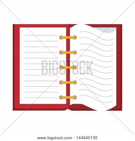 open notebook page notes paper handwriting tool vector illustration