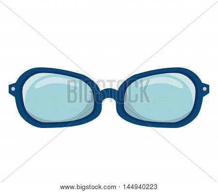 glasses accessory eyewear optical vision lens optical vector illustration