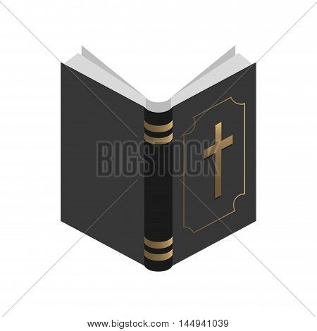 holy bible religion open book christianity catholicism silhouette vector illustration