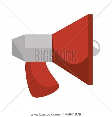 megaphone speaker message communication audio loud device vector illustration