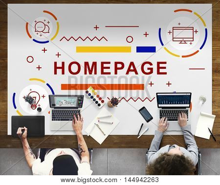 Homepage Website Blogging Browser Concept