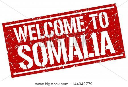 welcome to Somalia. stamp. grunge square sign