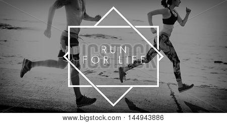 Run Active Fitness Health Hurry Jogging Sprint Concept