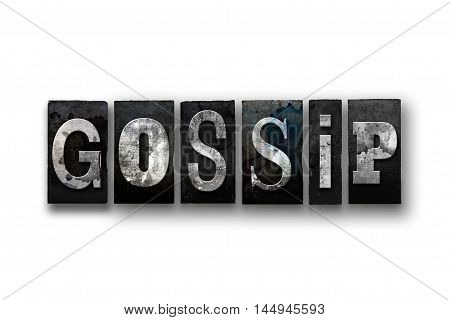 Gossip Concept Isolated Letterpress Type