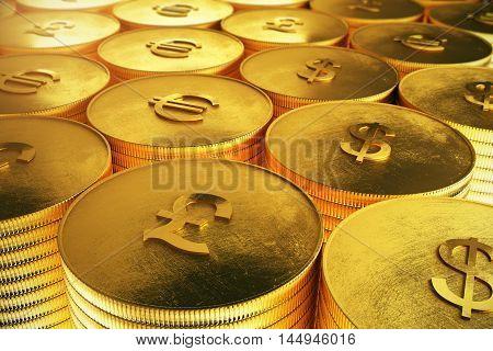 Pound Coins Closeup