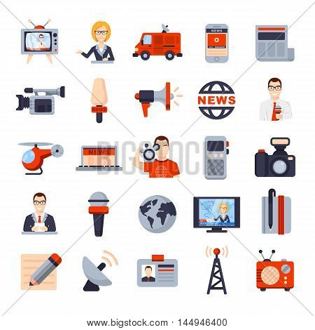 Illustrations Of Flat Icon Set