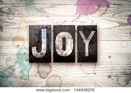Joy Concept Metal Letterpress Type