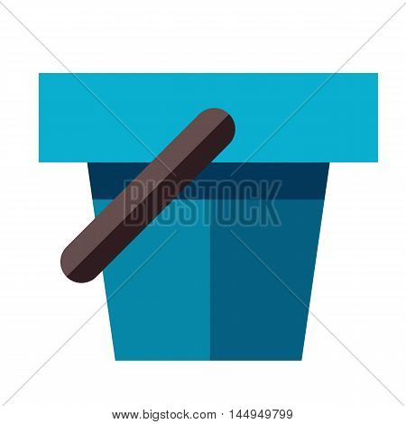 Bucket Illustration In Flat Style
