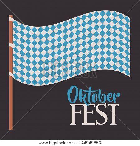 flag blue pattern oktoberfest icon. Colorful and Flat design. Vector illustration