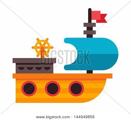 Illustration Of A Toy Ship