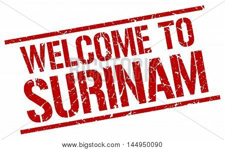 welcome to Surinam. stamp. grunge square sign