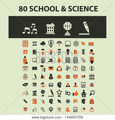 school, science icons