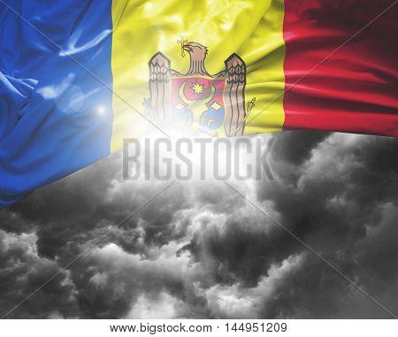 Moldova flag on a bad day