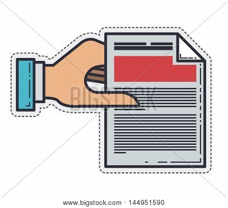 document hand peace paper icon. Isolated and Flat design. Vector illustration