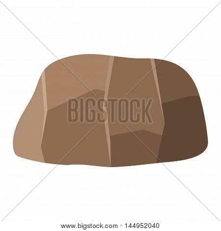 Stone rock in cartoon style big mineral pile. Boulder natural rock and stone granite rough. Vector illustration rock and stone nature boulder geology cartoon material.