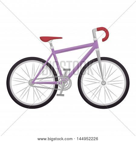 sport bicycle bike vehicle transport  activity vector illustration