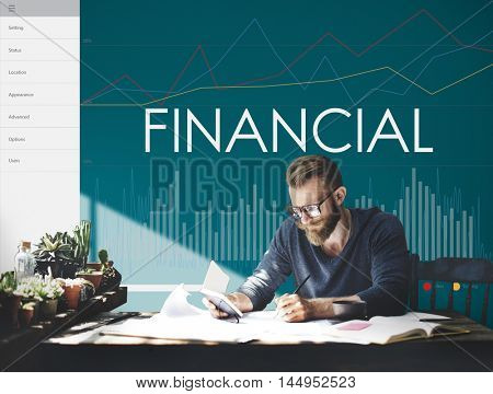 Financial Statistics Analytics Business Proress Concept