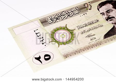 25 Iraqi dinar bank note. Iraqi dinar is the national currency of Iraq