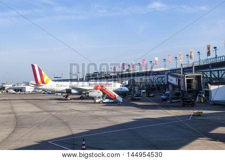 German Wings Aircraft At Bremen Airport