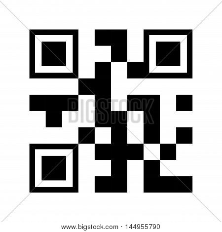 qr quick response code black squares barcode technology vector illustration