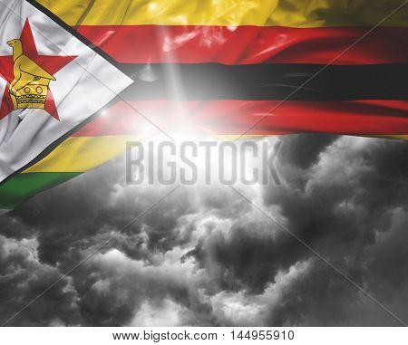 Zimbabwe flag on a bad day