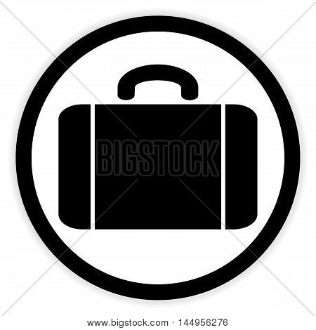 Portfolio symbol button on white background. Vector illustration.