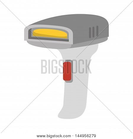 bars code reader scanner identification electronic device vector illustration