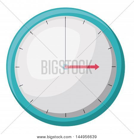 clock time circle arrow hour minute icon. Isolated and Flat design. Vector illustration