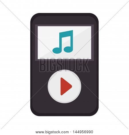 music player portable play button technology device vector illustration