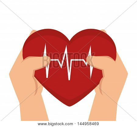 heart cardiogram  rhythm graph health medicine silhouette vector illustration