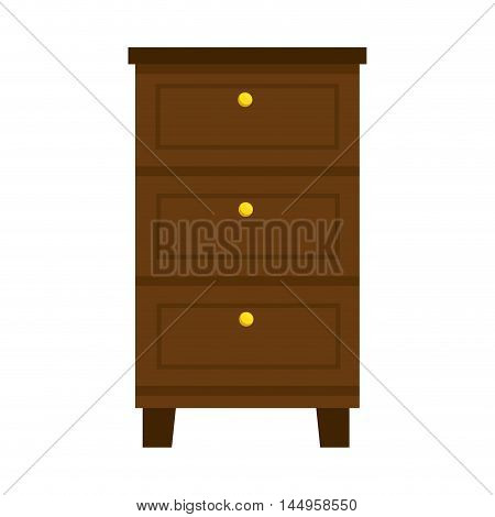 chest of drawers wooden cabinet home furniture bedroom vector illustration