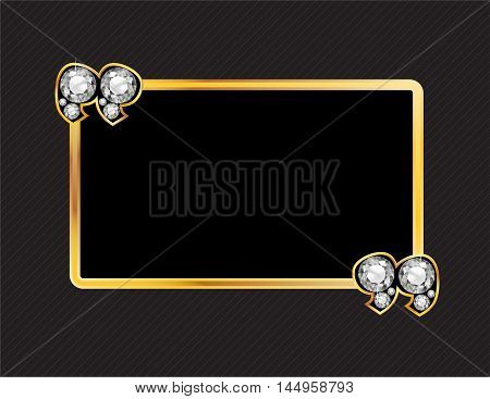Diamond Stone Quotes on Gold Metal Speech Bubble over Pinstripe Background