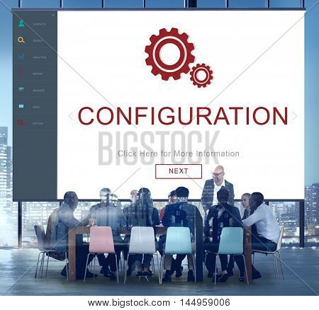 Configuration Update Program Repair Setting Installation Concept