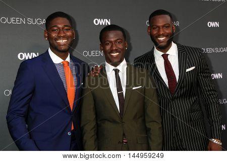 LOS ANGELES - AUG 29:  Kwesi Boakye, Kwame Boateng, Kofi Siriboe at the Premiere Of OWN's